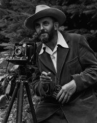 Ansel_Adams_and_camera 1950