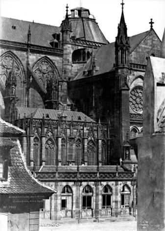 Cathédrale_Strasbourg_-_façade_Sud_partie_centrale_-_Le_Secq_1851